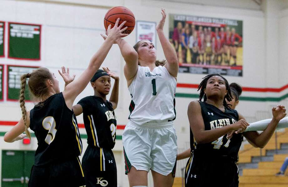 The Woodlands guard Lauren Szot (1) is one of three returning players for the Lady Highlanders this season. Photo: Jason Fochtman, Houston Chronicle / Staff Photographer / © 2018 Houston Chronicle