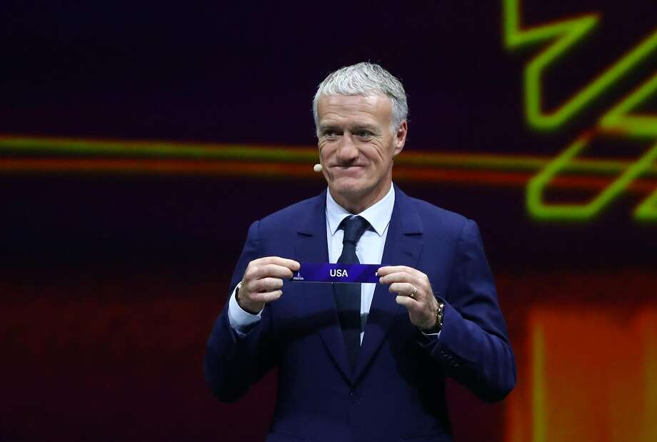 PARIS, FRANCE - DECEMBER 08: Didier Deschamps picks out the United States during the FIFA Women's World Cup France 2019 Draw at La Seine Musicale on December 8, 2018 in Paris, France. (Photo by Dean Mouhtaropoulos/Getty Images) Photo: Dean Mouhtaropoulos / Getty Images