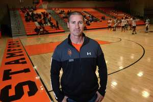 Stamford High School Athletic Director Chris Passamano at Stamford High School Thursday, December 6, 2018, in Stamford, Conn. Passamano has started a program that provides free meals to Stamford HS students and athletes who need a meal after school before games.