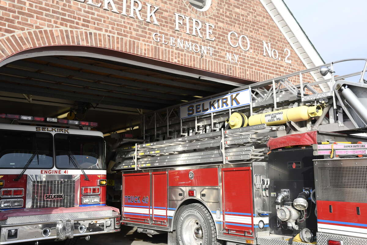 Selkirk's firehouse in Glenmont has barely two inches of clearance between the top of the truck and the doorway. The firehouse was built in the early 1950s with smaller trucks of that era in mind.