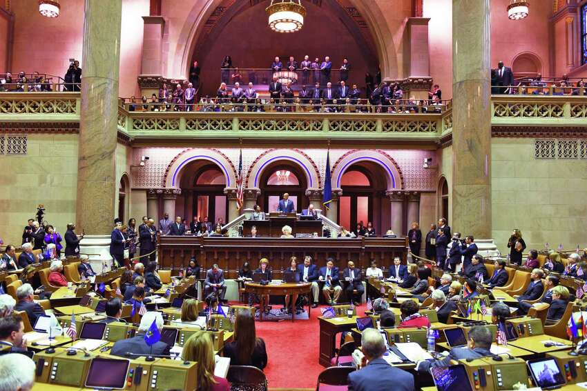 The NYS Assembly begins the 2017 session of the NYS Legislature begins Wednesday Jan. 4, 2017 in Albany, NY. (John Carl D'Annibale / Times Union)