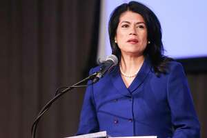 State Rep. Carol Alvarado participates in a debate for the special election for Texas Senate Dist. 6 at University of Houston Downtown on Tuesday, Dec. 4, 2018 in Houston.