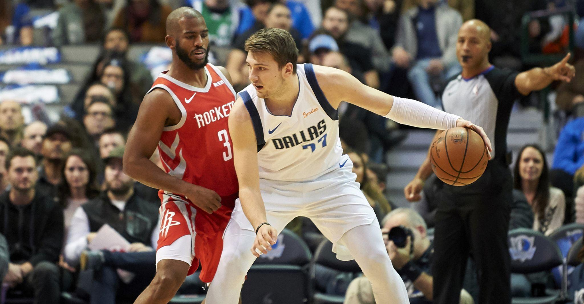 Luka Doncic sparks Mavericks past reeling Rockets