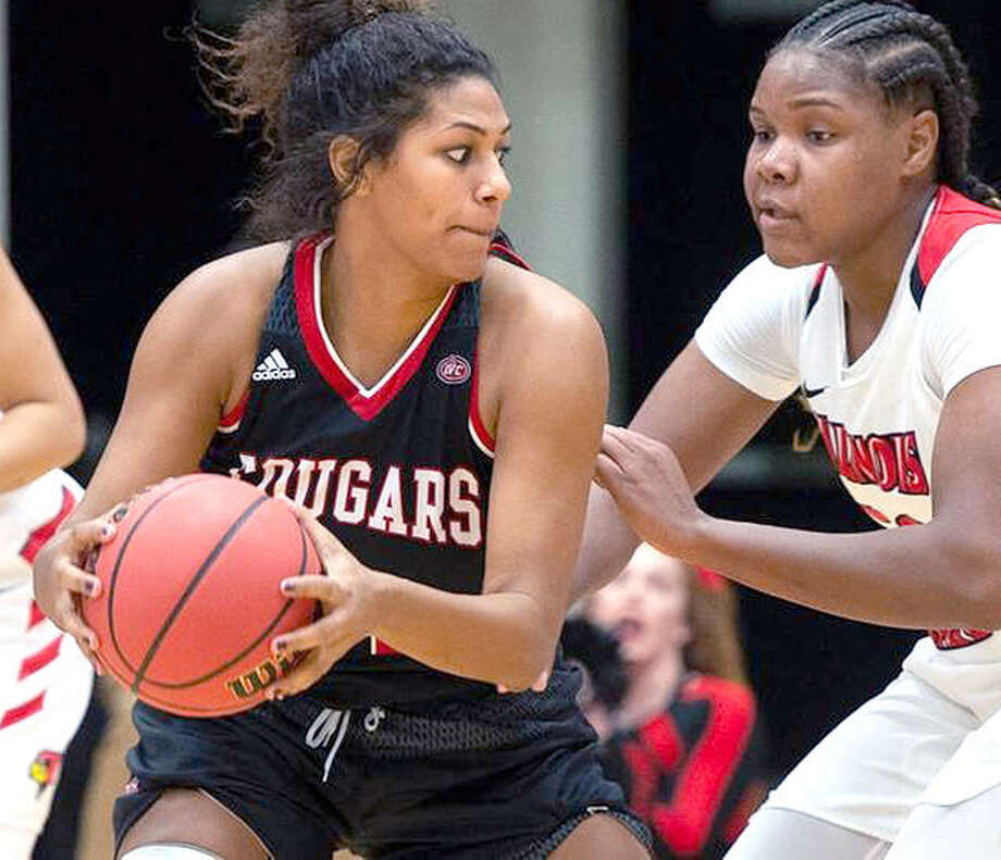 SIUE's Nakiah Bell scored 12 points and had five assists in the Cougars' win over Chicago State Saturday in Chicago. Photo: SIUE Athletics