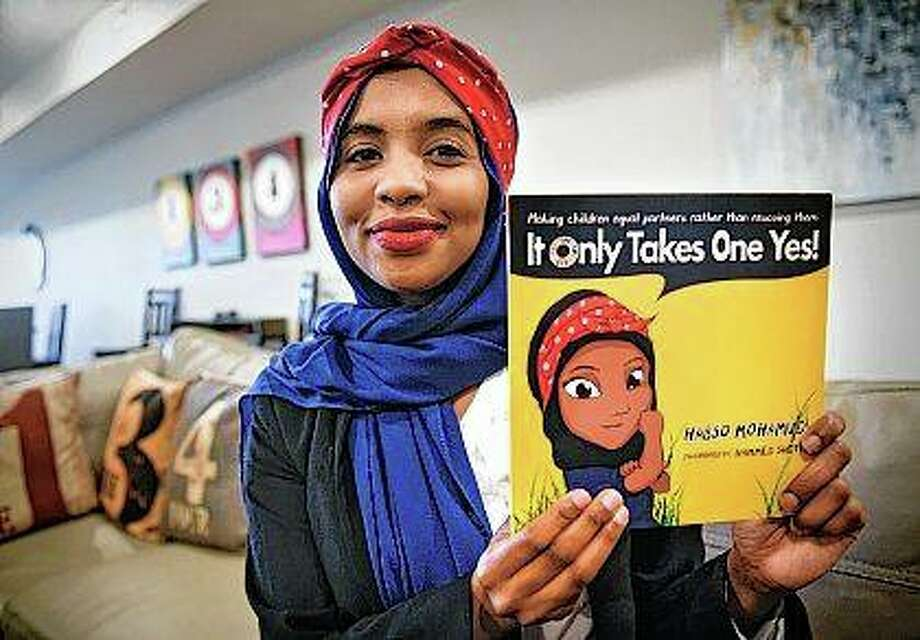 Habso Mohamud was born in a refugee camp in Kenya. Mohamud lived in the refugee camp until she was 10. Now 24, she lives in St. Cloud, Minnesota, and works for the UNESCO Center of Peace. Photo: Dave Schwarz | St. Cloud Times (AP)