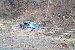 Four people were sent to the hospital Sunday morning after a crash on I-95 in Westport.