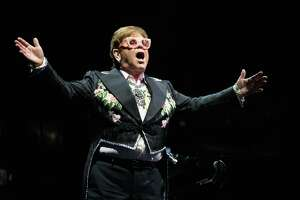 Elton John performs at the Toyota Center in Downtown Houston, part of the Goodbye Yellow Brick Road - his final tour. Saturday, December 8, 2018