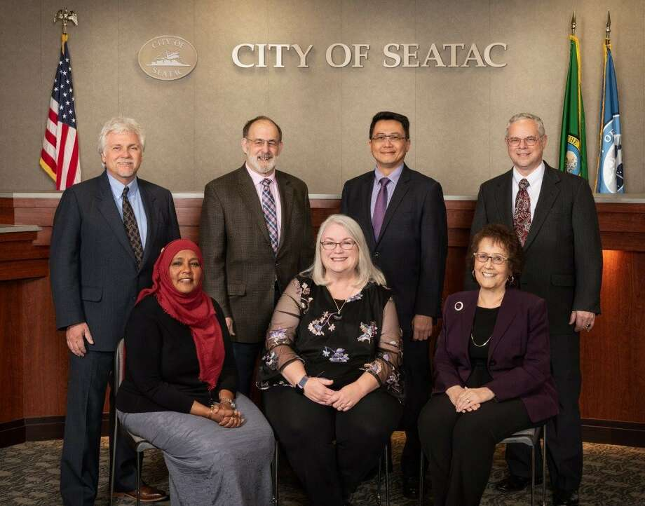 On Saturday afternoon, Amina Ahmed (front row, left) was killed in a head-on car crash in SeaTac.