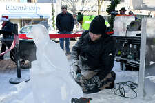 Eight professional ice carvers transformed 3 blocks of ice-900 pounds-into a spectacular sculpture in only four hours on Saturday, December 8 at The Shops at Yale in New Haven. The event included hot cocoa, crepes and live performances by several a cappella groups- Were you SEEN?