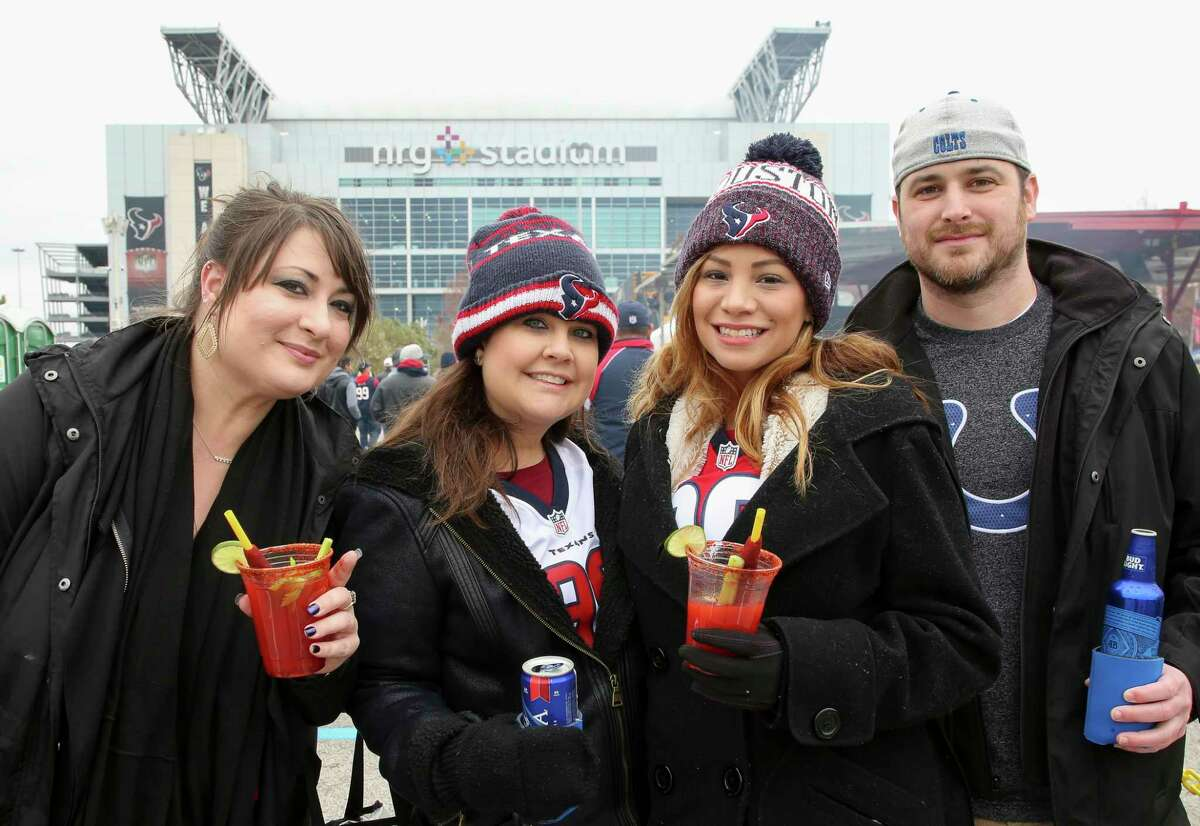 Houston Texans fans tailgating before an NFL game between the Texans and the Indianapolis Colts at NRG Stadium Sunday, Dec. 9, 2018, in Houston.