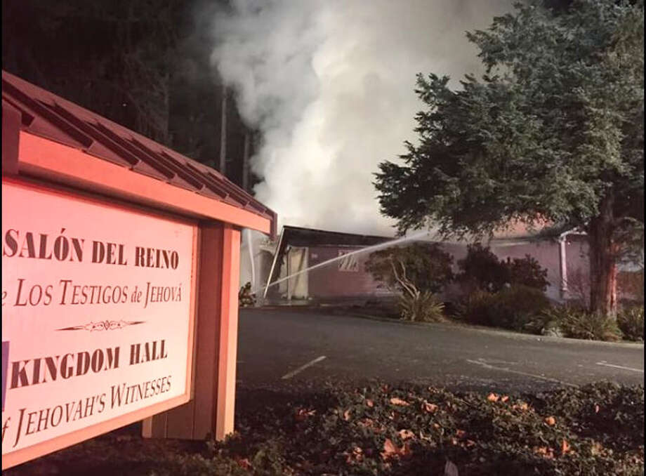 Authorities say the fire last week at a Jehovah's Witness prayer center in Washington state was intentionally set. Photo: Thurston County Sheriff's Office / Thurston County Sheriff's Office