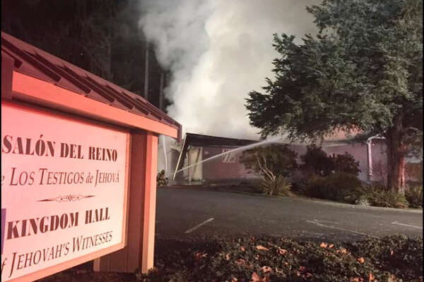 Authorities say the fire last week at a Jehovah's Witness prayer center in Washington state was intentionally set.