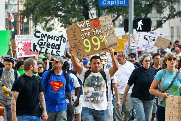 The huge income gaps that Occupy Wall Street demonstrators in Houston protested against in 2011 have gotten worse, says Federal Reserve Board Chairman Jerome Powell.
