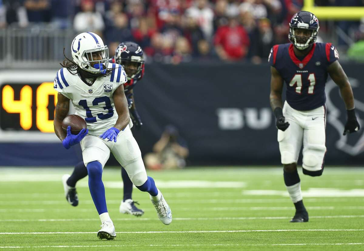 Colts receiver T.Y. Hilton gaining separation from Texans defenders has been a frequent sight through the years.