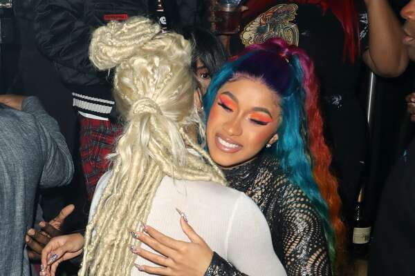 MIAMI, FL - DECEMBER 6: Teyana Taylor and Cardi B make an appearance at E11EVEN MIAMI during Art Basel 2018 on December 6, 2018 in Miami, Florida. (Photo by Alexander Tamargo/Getty Images for E11EVEN)