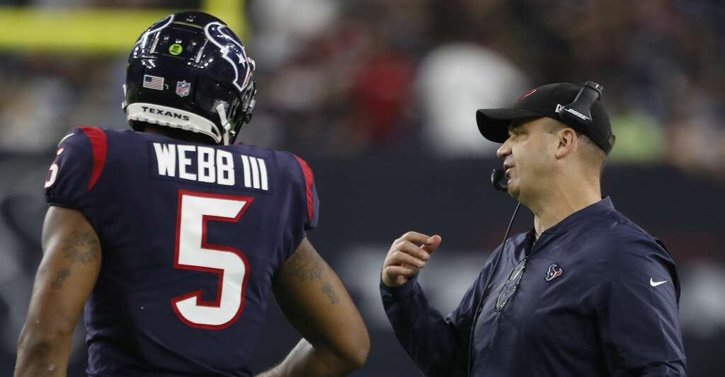 33eb4b525 <p>Houston Texans head coach Bill O'Brien talks to quarterback Joe Webb