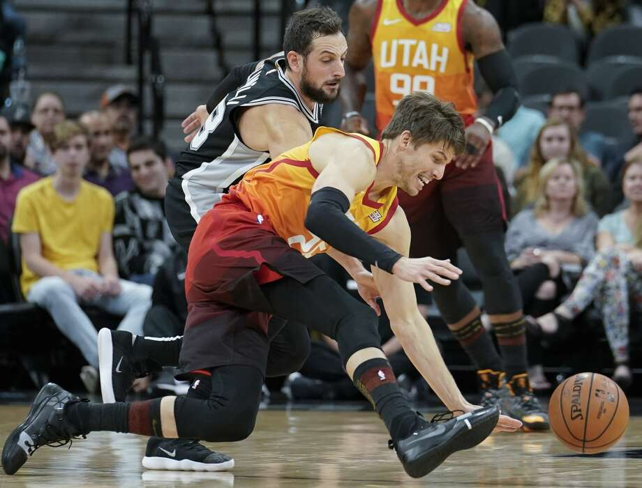 05fb34f4e Spurs down Jazz 110-97 to avenge 30-point loss in Utah - San Antonio ...