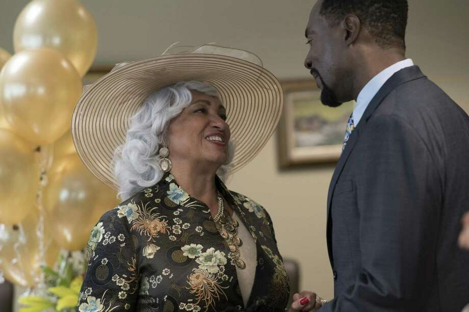 """Daphne Maxwell Reid, left, and Richard Brooks in """"Jacqueline and Jilly,"""" streaming on the Urban Movie Channel. Photo: Derek White, HONS / Associated Press / Derek White Photography"""