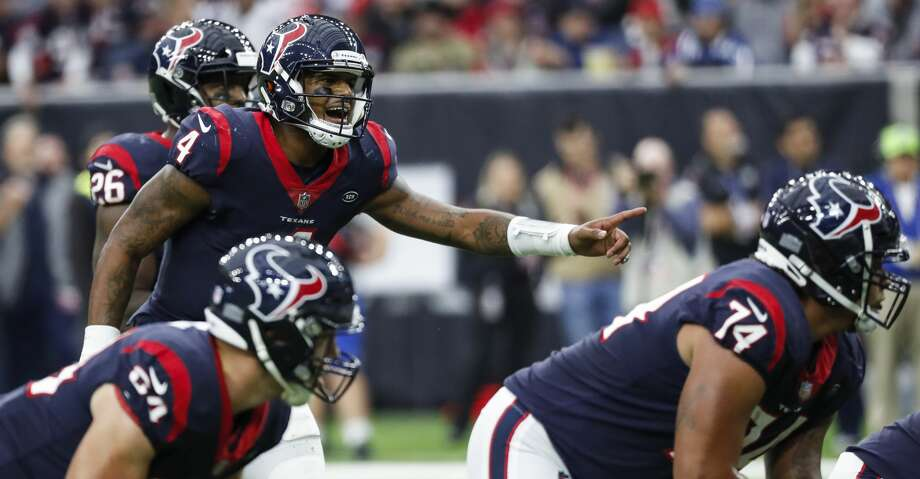 PHOTOS: John McClain's Week 15 predictions  Houston Texans quarterback Deshaun Watson (4) calls out signals as he runs the offense against the Indianapolis Colts during the third quarter of an NFL football game at NRG Stadium on Sunday, Dec. 9, 2018, in Houston. >>>See The General's picks for Week 15 of the NFL season ...  Photo: Brett Coomer/Staff Photographer