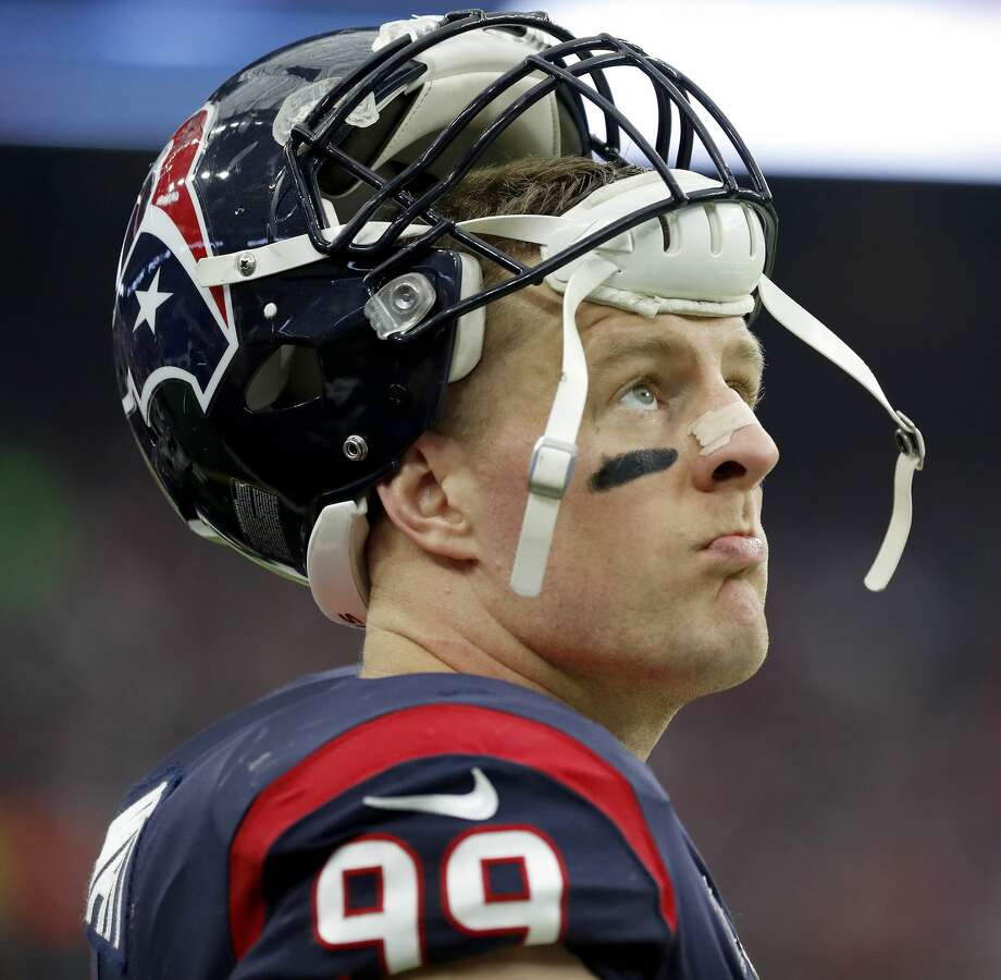 PHOTOS: Contract situation for each Texans player in 2019 offseason  Houston Texans defensive end J.J. Watt (99) on the sidelines during the first quarter of an NFL football game at NRG Stadium, Sunday, Dec. 9, 2018, in Houston. >>>Browse through the photos for a look at contract situations for each Texans player headed into the 2019 offseason ...  Photo: Karen Warren/Staff Photographer