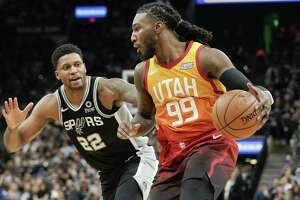 Rudy Gay, guarding Utah's Jae Crowder, scored 23 points one week after scoring zero in the Spurs' blowout loss at the Jazz.
