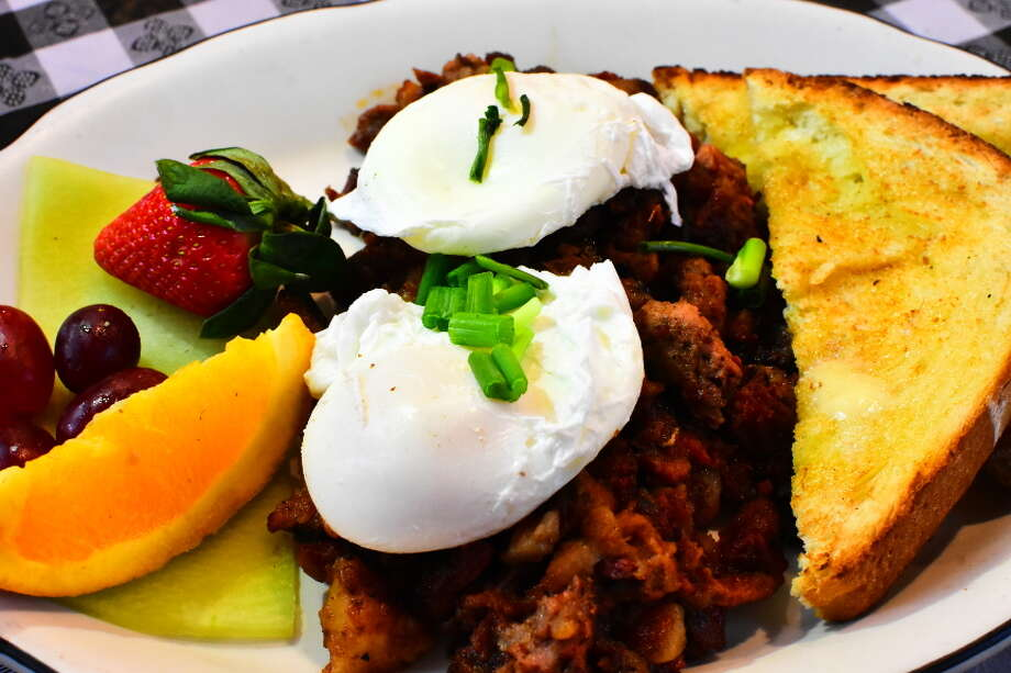 Click through the slideshow for a preview of Gracie's Kitchen in Voorheesville. Smoked-brisket hash with poached eggs. Photo: Steve Barnes/Times Union