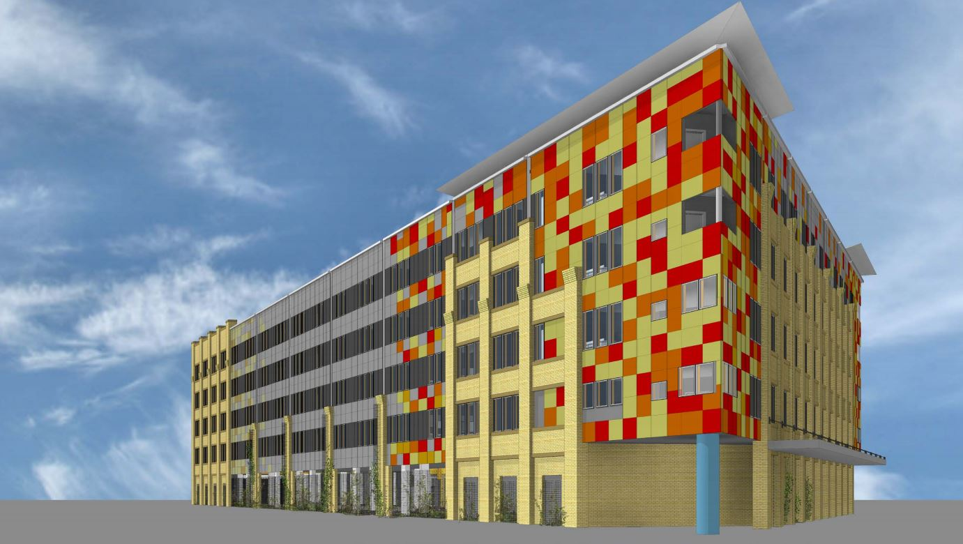 Colorful, affordable Museum Reach Lofts get initial city approval