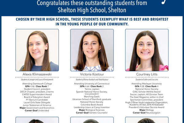 "The Register's annual ""Senior Spotlight"" series, sponsored by Yale University, spotlights talented New Haven-area high school seniors and shares information about them their dreams for the future. Congratulations Shelton High School"