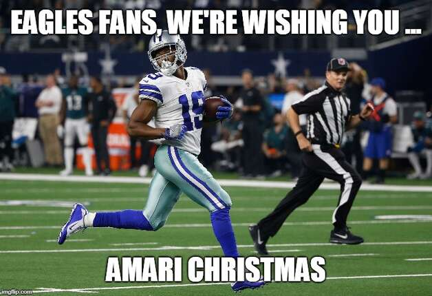Dallas Cowboys Week 14: Cowboys 29, Eagles 23 (OT) A couple weeks before Christmas Amari Cooper torched the Eagles with 10 catches for 217 yards and 3 touchdowns, including the game-winner in overtime. Photo: Matt Young