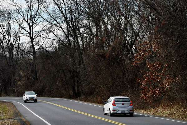 View looking down Rapp road behind Crossgates Mall where an apartment and townhouse complex is planned for the property that sits across from the mall on Monday, Dec. 10, 2018, in Guilderland, N.Y. (Will Waldron/Times Union)