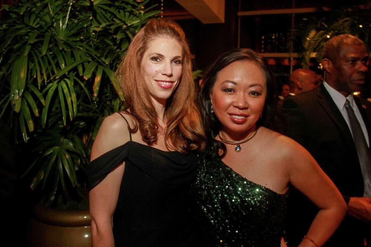 Laura Louis, left, and Miya Shay at the Altus Foundation gala.