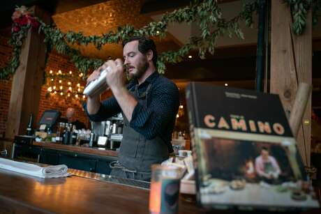 Tyler Vogel has managed Camino's distinctive cocktail menu almost since the beginning. Photo: Sarahbeth Maney / Special To The Chronicle