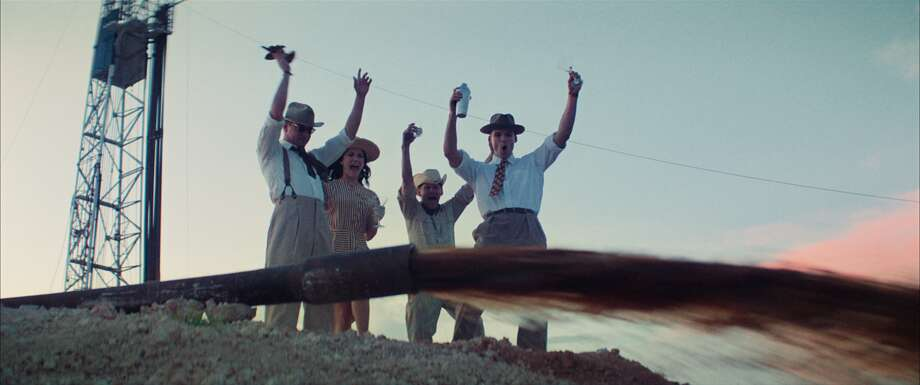 Left to right, Lane Garrison, Ali Cobrin, Lew Temple and Austin Nichols celebrate another hit. Photo: Mathieu Plainfoss