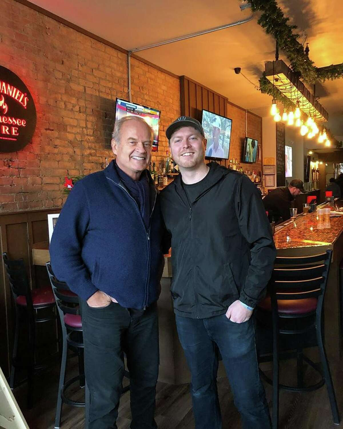 Kelsey Grammer was in Schenectady on Sunday, Dec. 9, 2018, to visit the Jay Street Pub, one of the locations that serves the actor's beer.