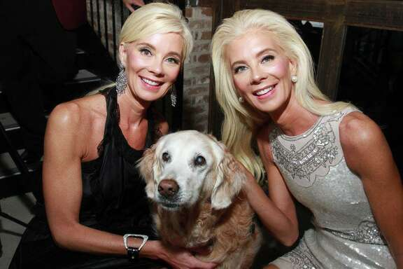 Tena Lundquist Faust, left, and Tama Lundquist with Bretagne at the Fierce and Fabulous Houston PetSet Soiree at the Astorian in this file photo.