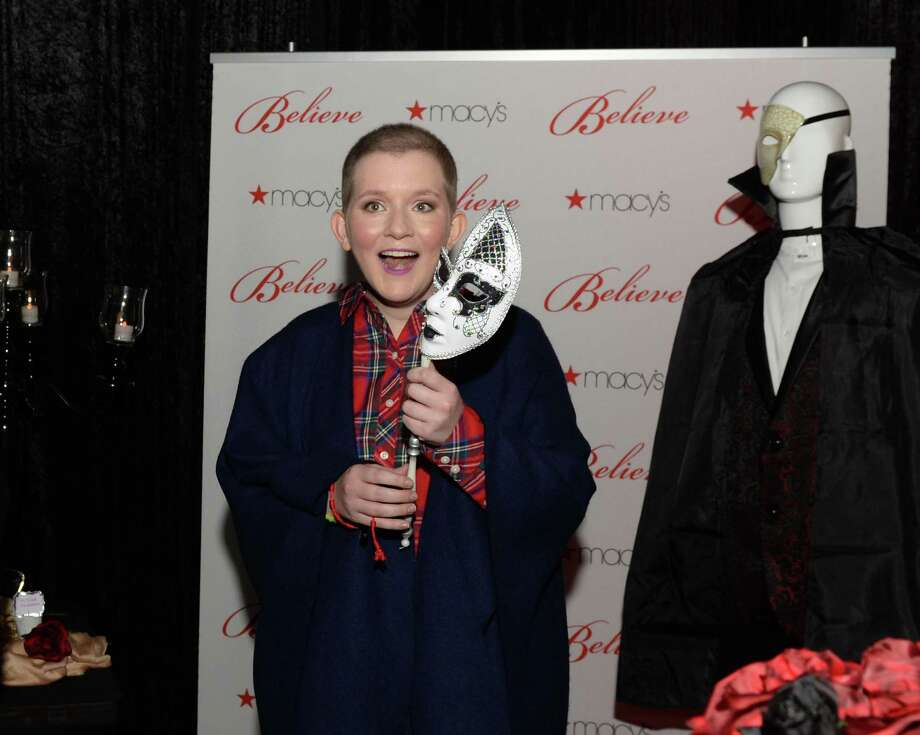 """17-year-old wish kid Claire reacts with surprise as she enters a """"Phantom of the Opera""""-themed party room provided by Macy's and Make-A-Wish at Macy's Memorial City on Friday, Dec. 7, in Houston. Photo: Craig Moseley, Houston Chronicle / Staff Photographer / ©2018 Houston Chronicle"""