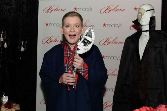 "17-year-old wish kid Claire reacts with surprise as she enters a ""Phantom of the Opera""-themed party room provided by Macy's and Make-A-Wish at Macy's Memorial City on Friday, Dec. 7, in Houston."