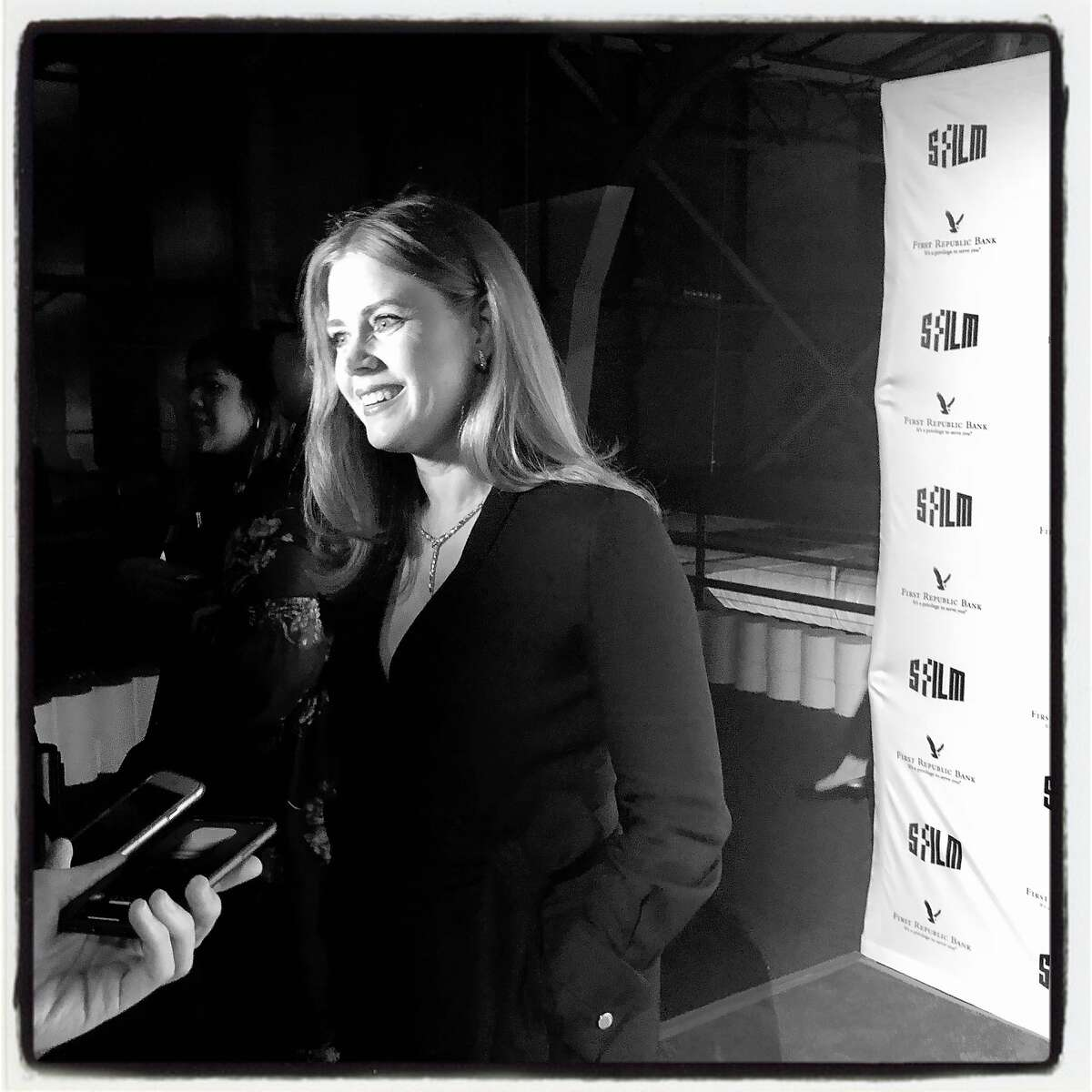 Actor-honoree Amy Adams at SFFilm Awards Night. Dec. 3, 2018.