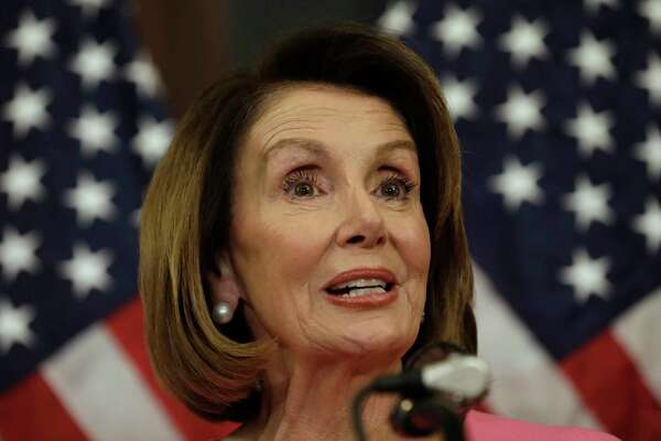 House Minority Leader Nancy Pelosi, D-Calif., speaks during a news conference on Capitol Hill in Washington, D.C., on Nov. 7, 2018.