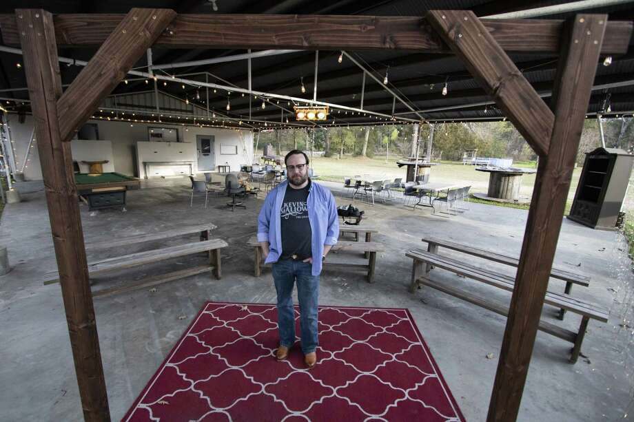 Conroe resident Eric Burns stands outside a music venue he converted from an Old Elks Lodge on Wednesday, Dec. 5, 2018 at 13680 Old Texaco Rd. in Conroe. Photo: Cody Bahn, Houston Chronicle / Staff Photographer / © 2018 Houston Chronicle