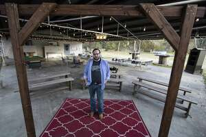 Conroe resident Eric Burns stands outside a music venue he converted from an Old Elks Lodge on Wednesday, Dec. 5, 2018 at 13680 Old Texaco Rd. in Conroe.