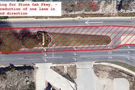Portions of Stone Oak Parkway in east and westbound directions will be shut down starting on the night of Dec. 10, 2018.