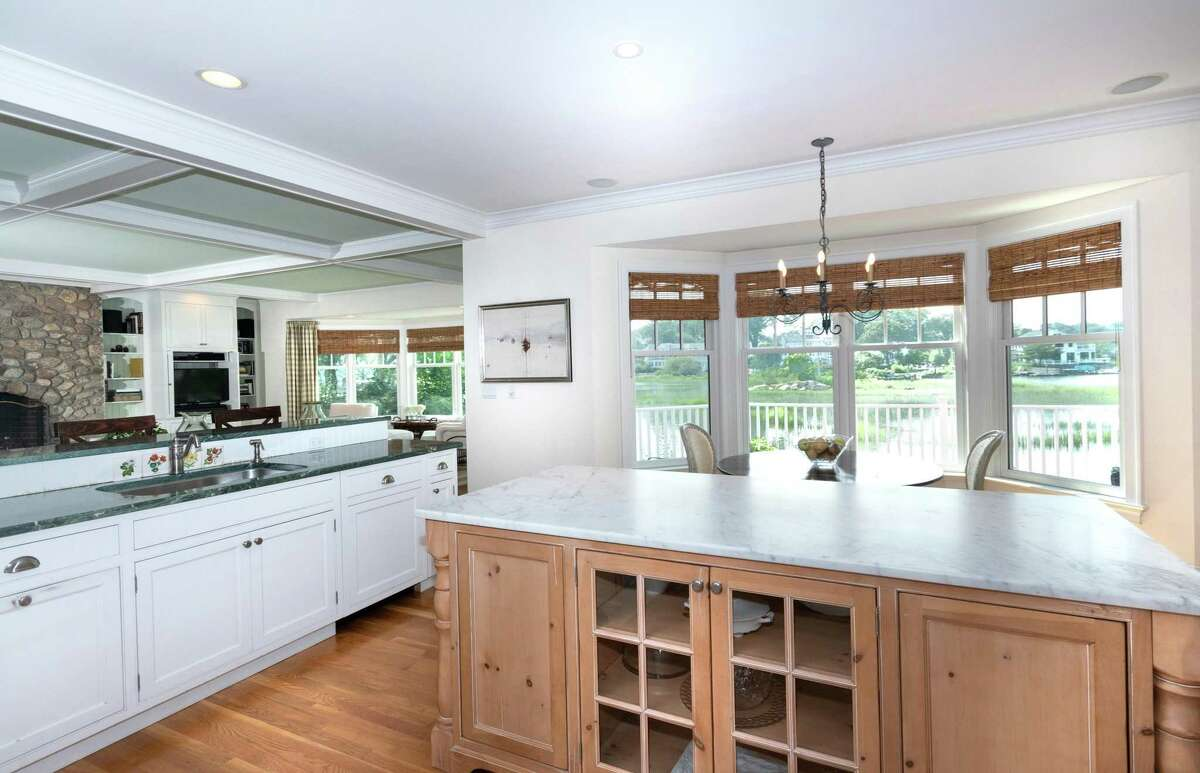 The eat-in kitchen includes a breakfast nook.