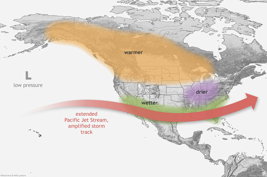 With the Pacific jet stream hitting land in California, rather than in the Northwest, this spring, the Golden State is seeing unseasonable rain and snow in late May. Photo: NOAA