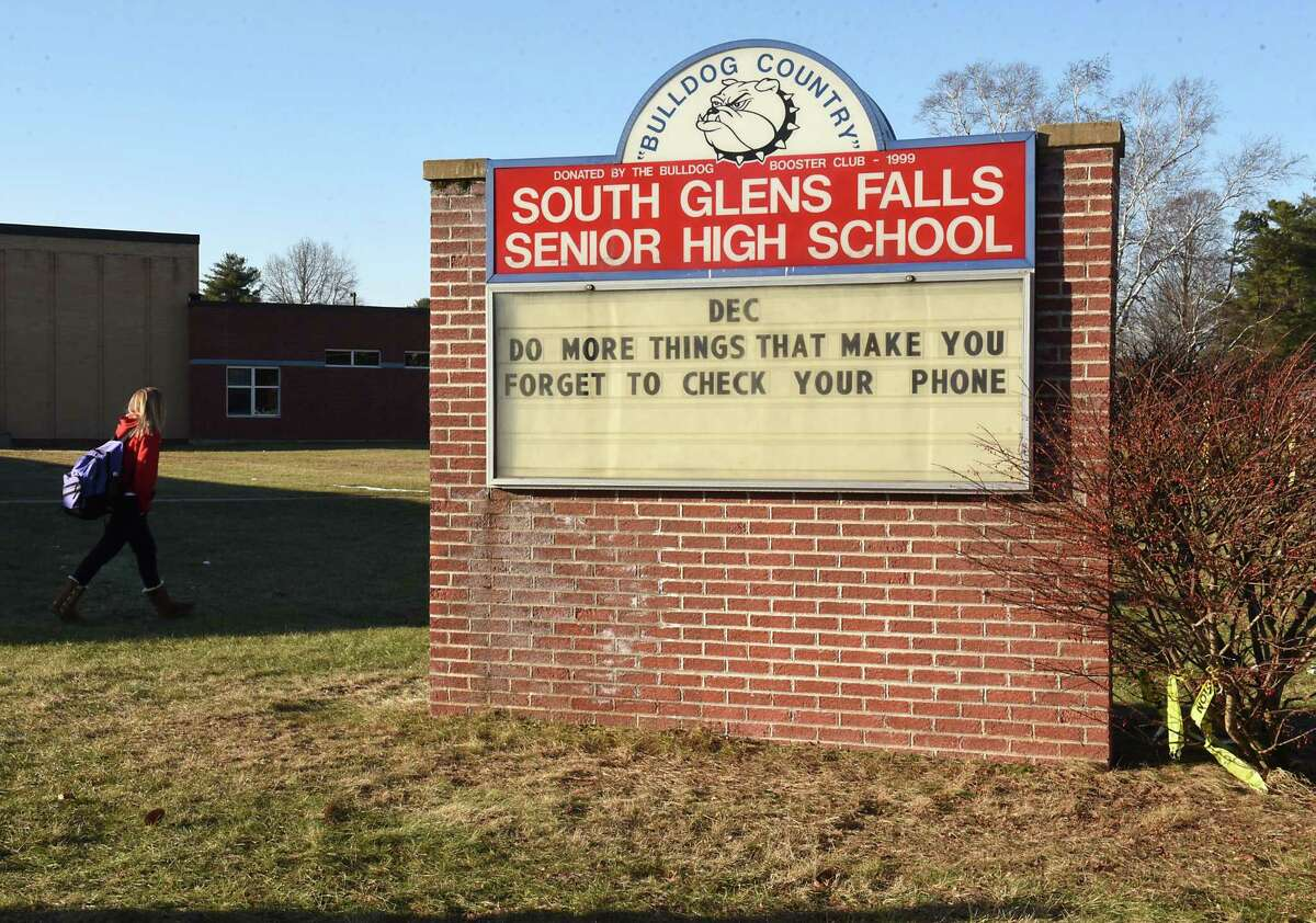 Exterior of South Glens Falls Senior High School on Monday, Dec. 10, 2018 in South Glens Falls, N.Y. (Lori Van Buren/Times Union)