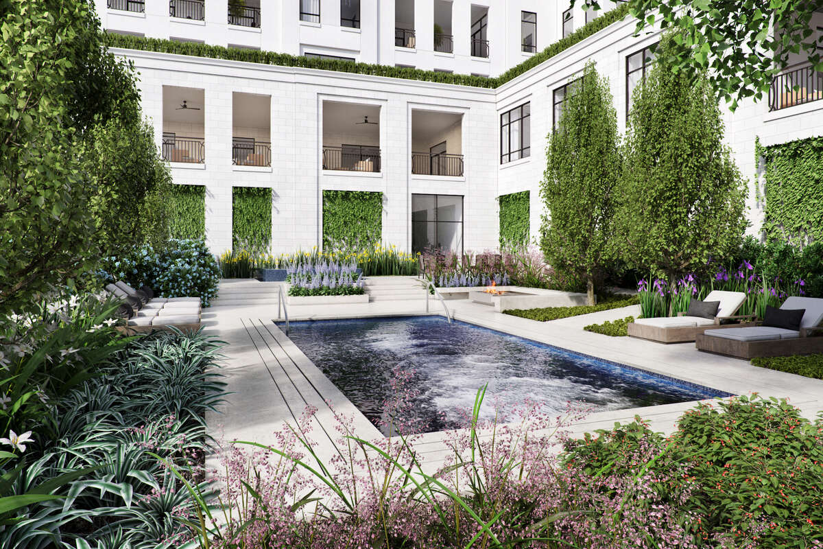 A resistance pool is among the amenities at The Sophie at Bayou Bend.