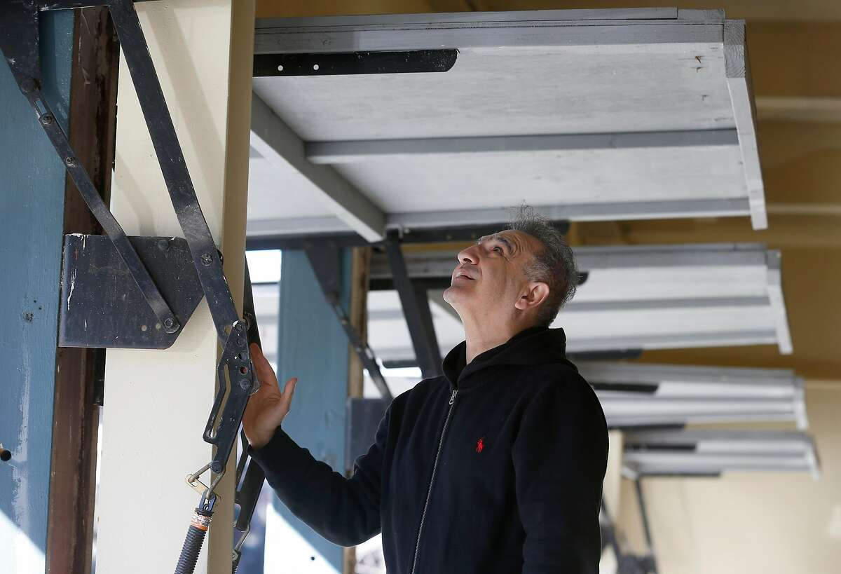 General contractor and engineer Homy Sikaroudi inspects steel columns and beams on a return visit to the Capri Apartments on Linda Avenue in Oakland.