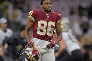 Washington Redskins tight end Jordan Reed, shown in New Orleans earlier this season, may miss the rest of the year with an injured toe.