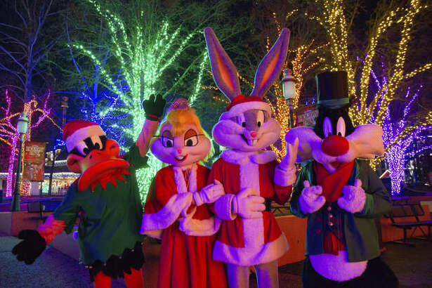 Six Flags Holiday In The Park Looney Tunes characters