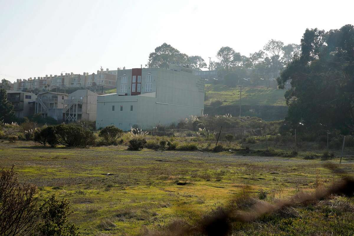 Part of the location for the India Basin project is behind Archmides Banya (center), a Russian bathhouse in the Bayview, on Monday, December 10, 2018 in San Francisco, Calif.